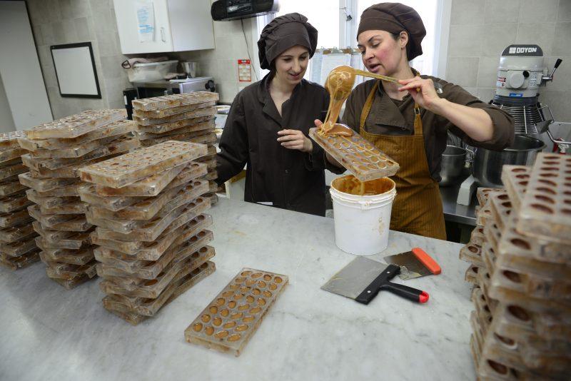 Le création de chcolats à la Cabosse d'Or.