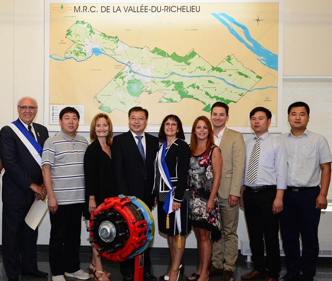 En juillet, une délégation du comté de Wei a visité la MRC de la Vallée-du-Richelieu en compagnie.