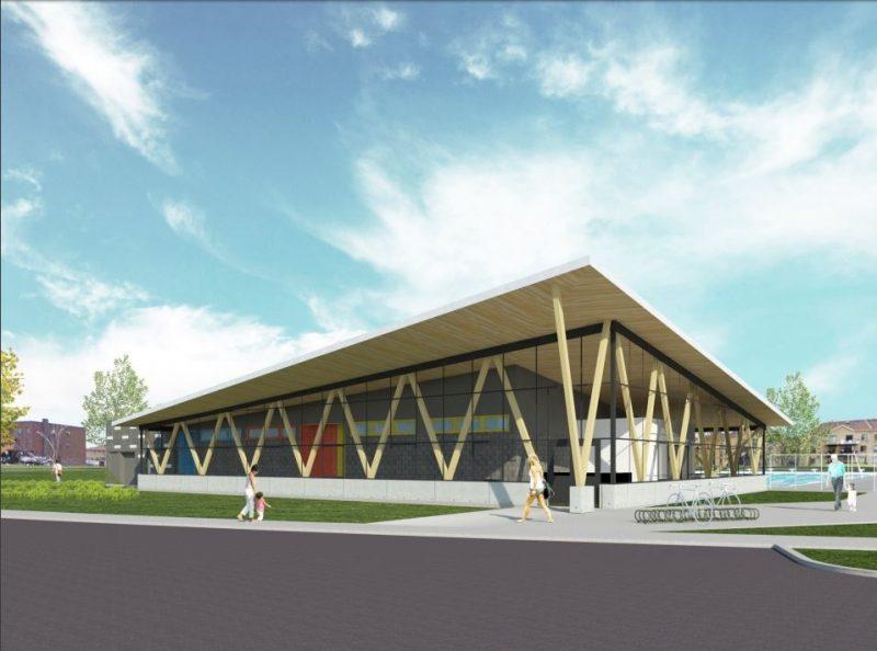 Le chalet de la piscine sera remplacé par un nouveau bâtiment.