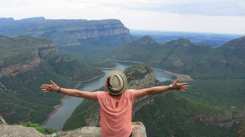 Marie-Lou Labonté lors de son voyage en Afrique du Sud, à Blyde Canyon