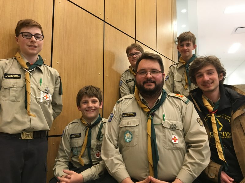 La 1ère troupe éclaireur des Patriotes de Belœil de l'Association des aventuriers de Baden-Powell