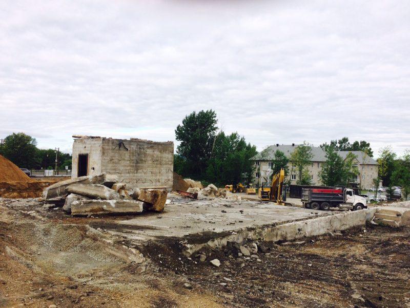 Les travaux des de démolition ont débuté le 3 août.