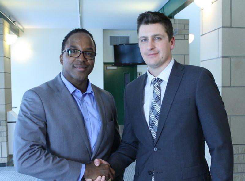 Le président d'Aquartis Jean-François Lamy et le président de la division Aquartis Caraibes SAS, Eddy Dureuil