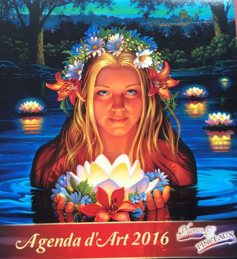 L'édition 2016 de l'agenda d'art Plumes et Pinceaux