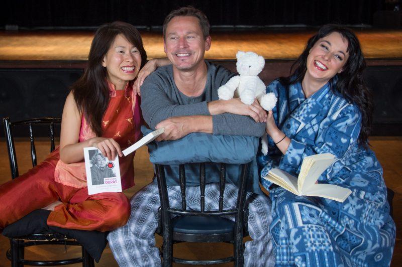 Les auteurs Kim Thuy, Alain Labonté et Claudia Larochelle