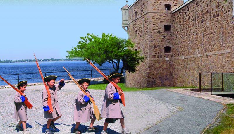 Le fort Chambly est situé sur la rive gauche de la rivière Richelieu au Québec. Situé au pied des rapides de Chambly