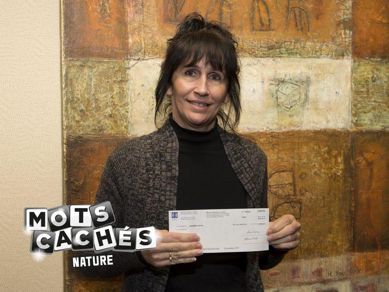 Isabelle Charbonneau a gagné 40 000 $ avec son billet Mots cachés nature