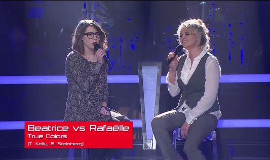 """Raphaëlle Lafrance a perdu son duel hier, mais a été """"volée"""" par Ariane Moffatt."""