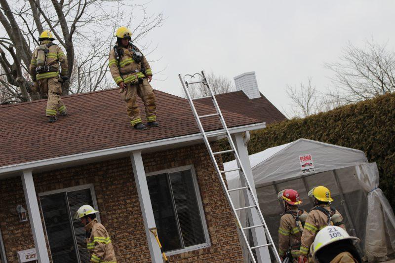 Les pompiers ont réussi à limiter les dégâts à la cuisine.