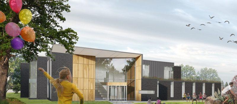 L'entrée principale du futur centre des loisirs de Belœil donnera sur la rue Hertel.