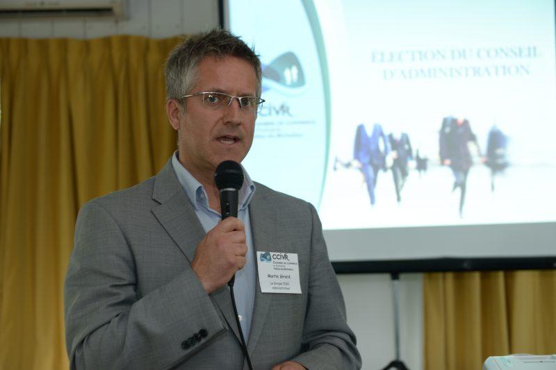 Le président de la CCIVR Martin Girard