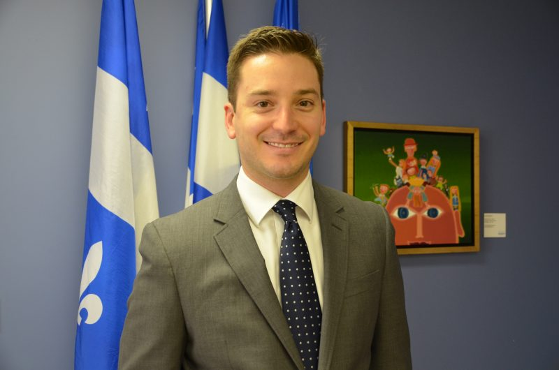 Le député de Borduas Simon Jolin-Barrette.
