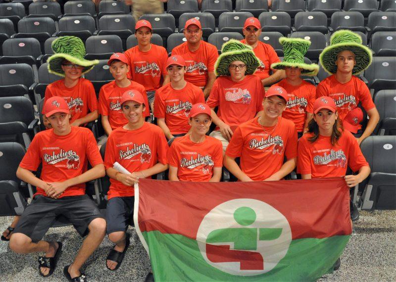 L'équipe de baseball de Richelieu-Yamaska.