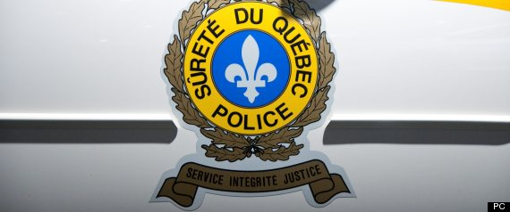 Surete du Quebec police crest on police cruiser door.The Canadian Press Images-Mario Beauregard