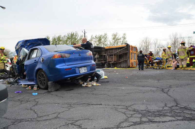 Photo de l'accident du 13 mai.