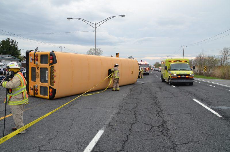 Photo de l'accident de l'autobus.