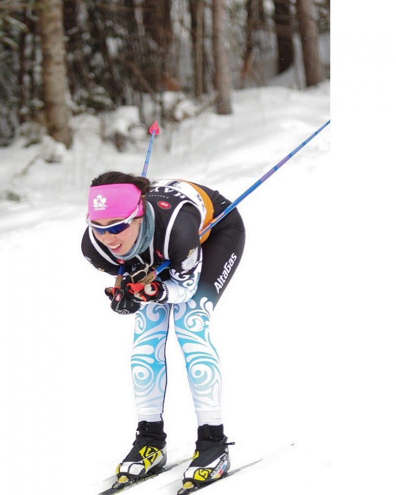 Delphine aspire un jour à représenter le Canada en ski de fond aux Jeux olympiques.