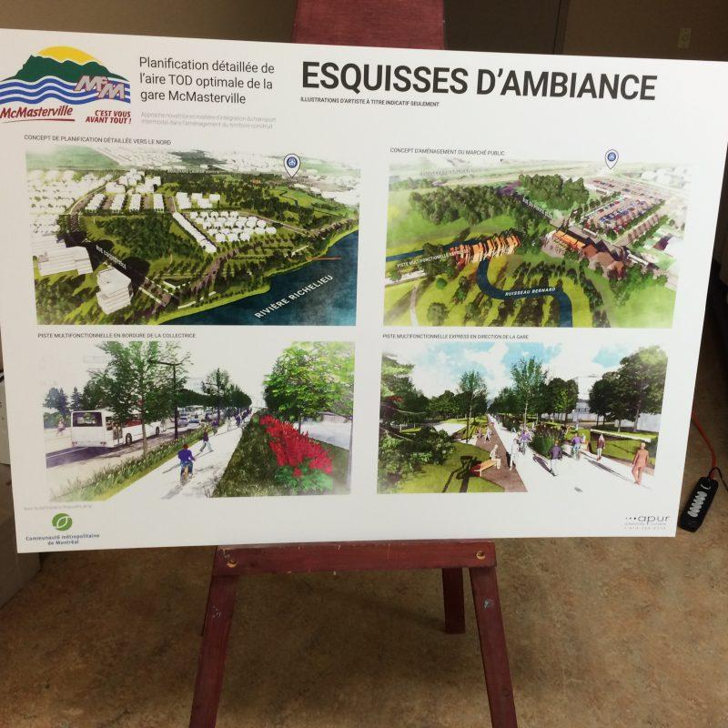 Des plans du projet ont été présentés à la population à l'occasion d'une séance d'information.