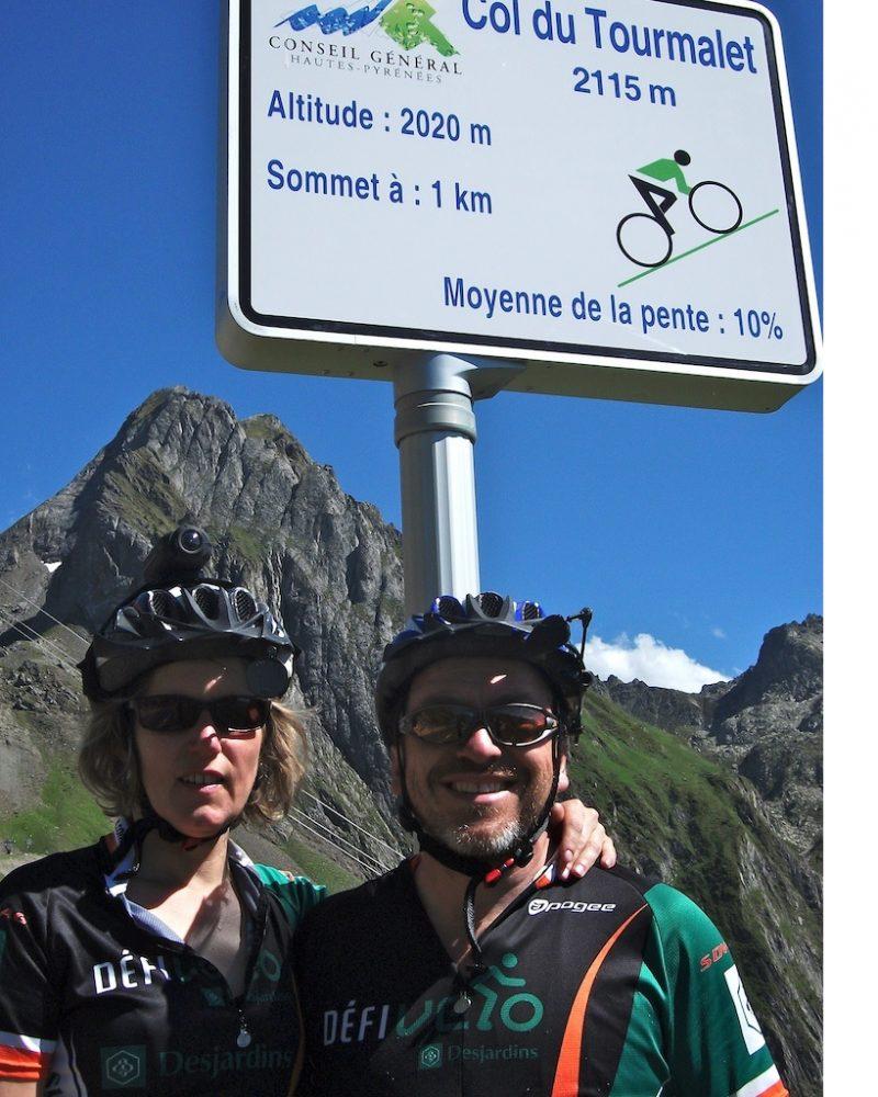 Le couple a déjà aussi pédalé en Europe, dans les Pyrénées.