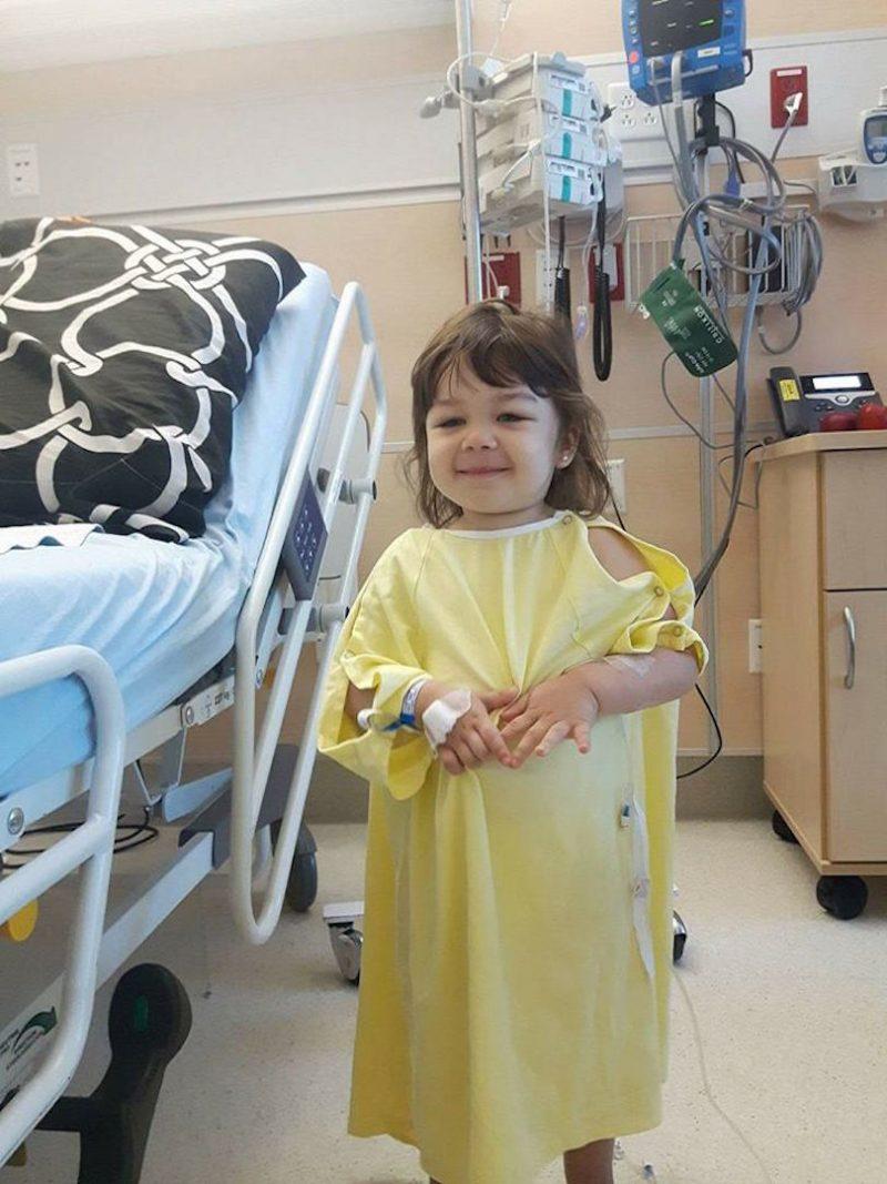 La petite Amy souffre d'une leucémie myéloïde aiguë. Photo: gracieuseté