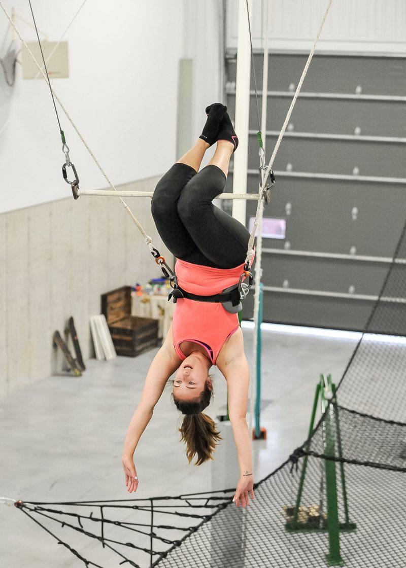 Notre journaliste a fait l'essai du trapèze volant. Photo:François Larivière