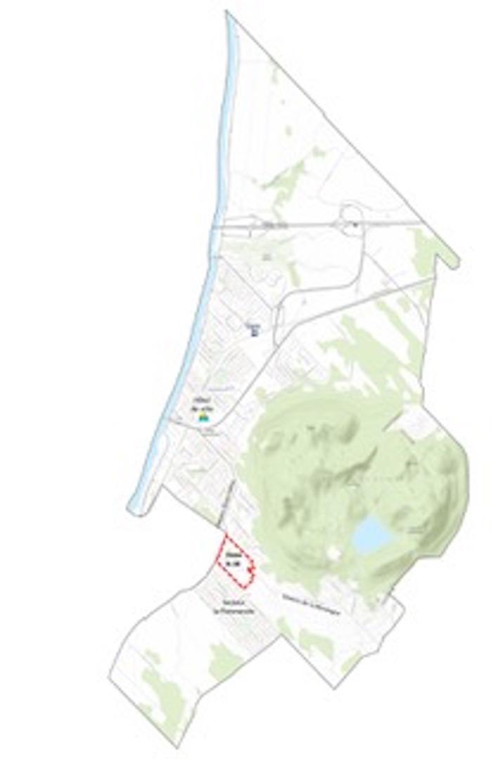 Vue aérienne de la zoneA-16 et des environs. Photo: Gracieuseté.