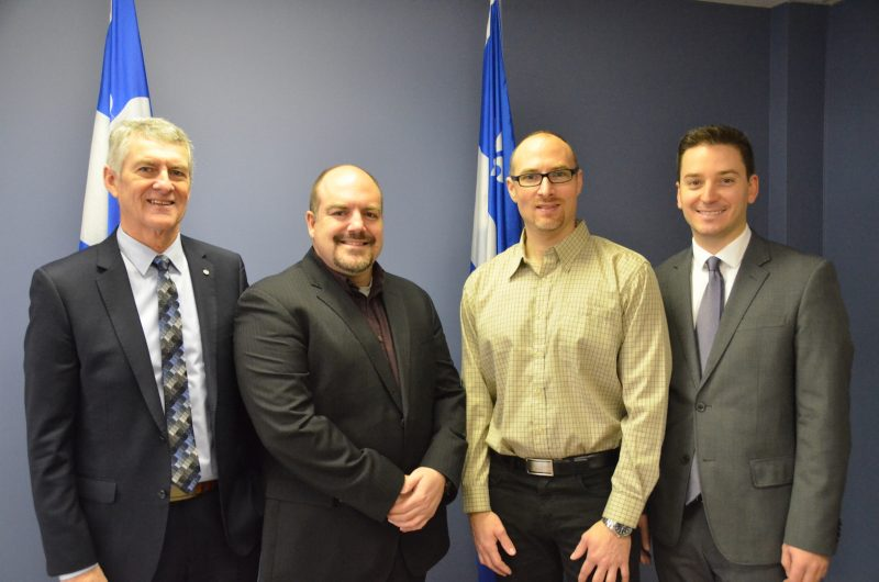 Jacques Rémy, Patrick Thibert, Steve Bilodeau et Simon Jolin-Barrette. Photo: Vincent Guilbault