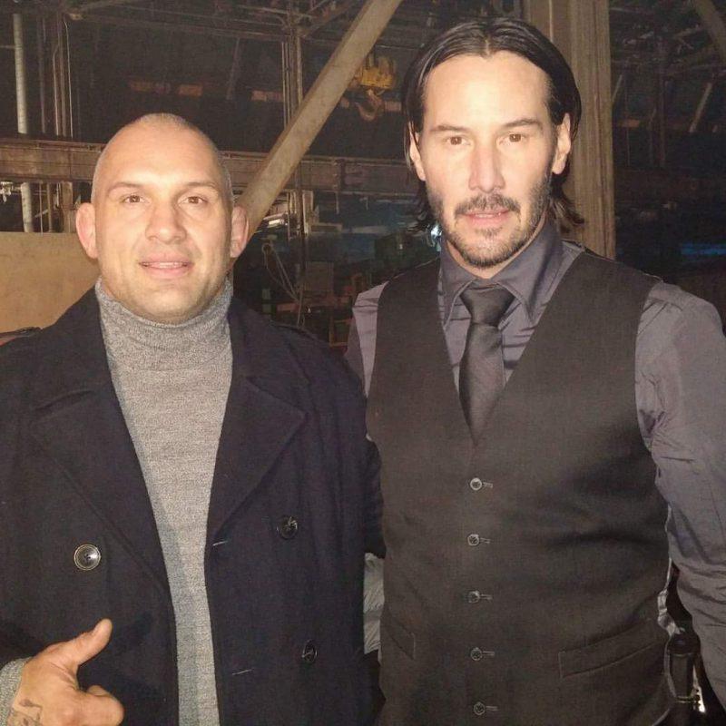 Avec Keanu Reeves