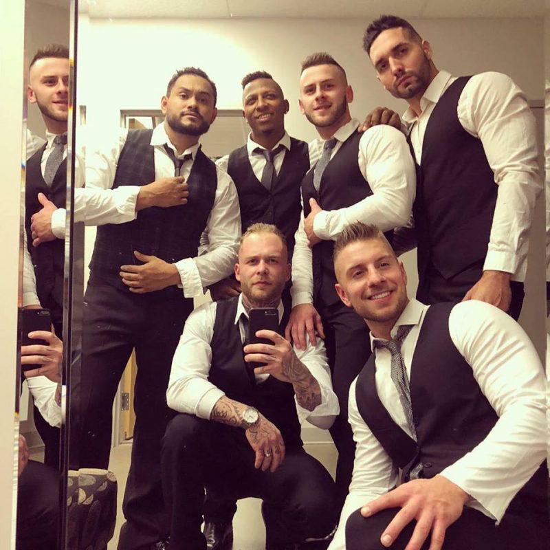 «Attachez votre tuque, les Dieux de la scène arrivent en ville!», affirme avec énergie Steve Chagnon, alias Shawn, prêt à surprendre sur scène avec ses cinq bad boys. Photo: Facebook