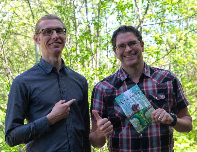 Le tome 1 des Aventures du Clan Boréal est en vente sur la plateforme Amazon depuis avril. Le premier d'une longue série, promet Markus Gauthier! Photo: Stéphane Desmeules