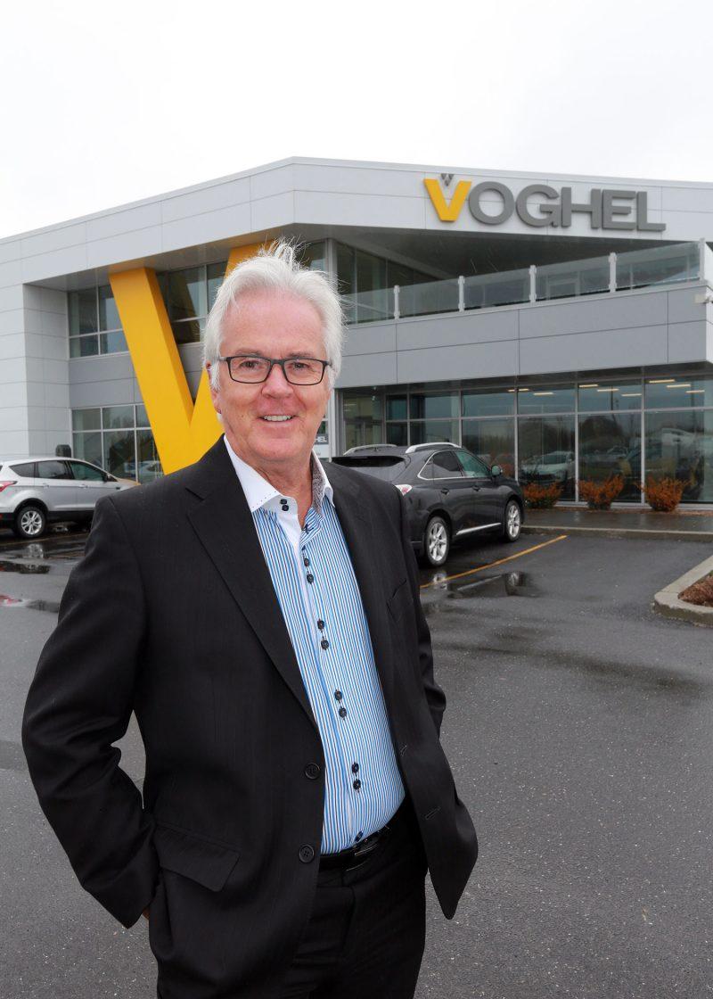 Pour Jean-Yves Voghel, président de Voghel, la journée permet de sensibiliser les gens à la cause environnementale et de parler de la Maison Victor-Gadbois. Photo: Robert Gosselin
