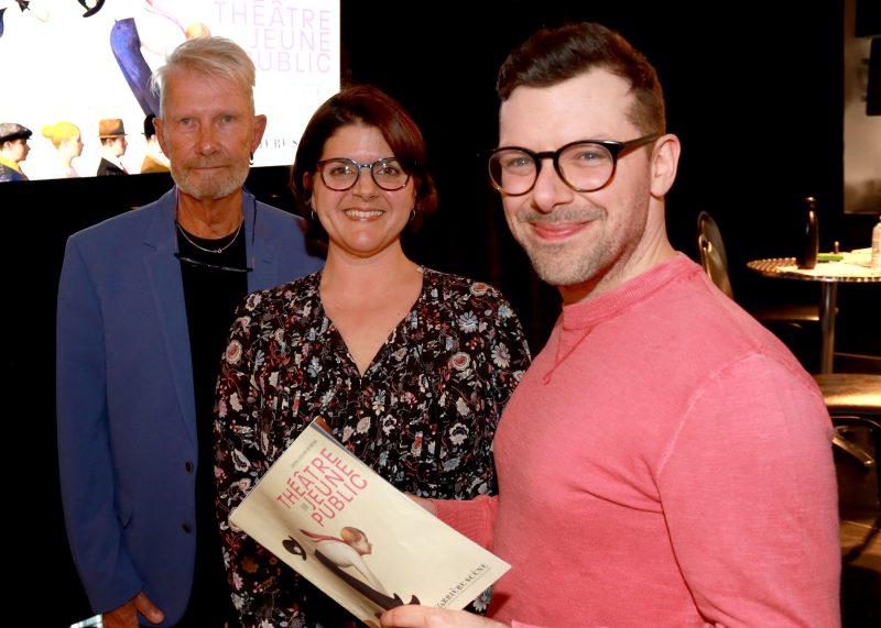 Serge Marois, Eveline Payette et Simon Boulerice. Photo: Robert Gosselin
