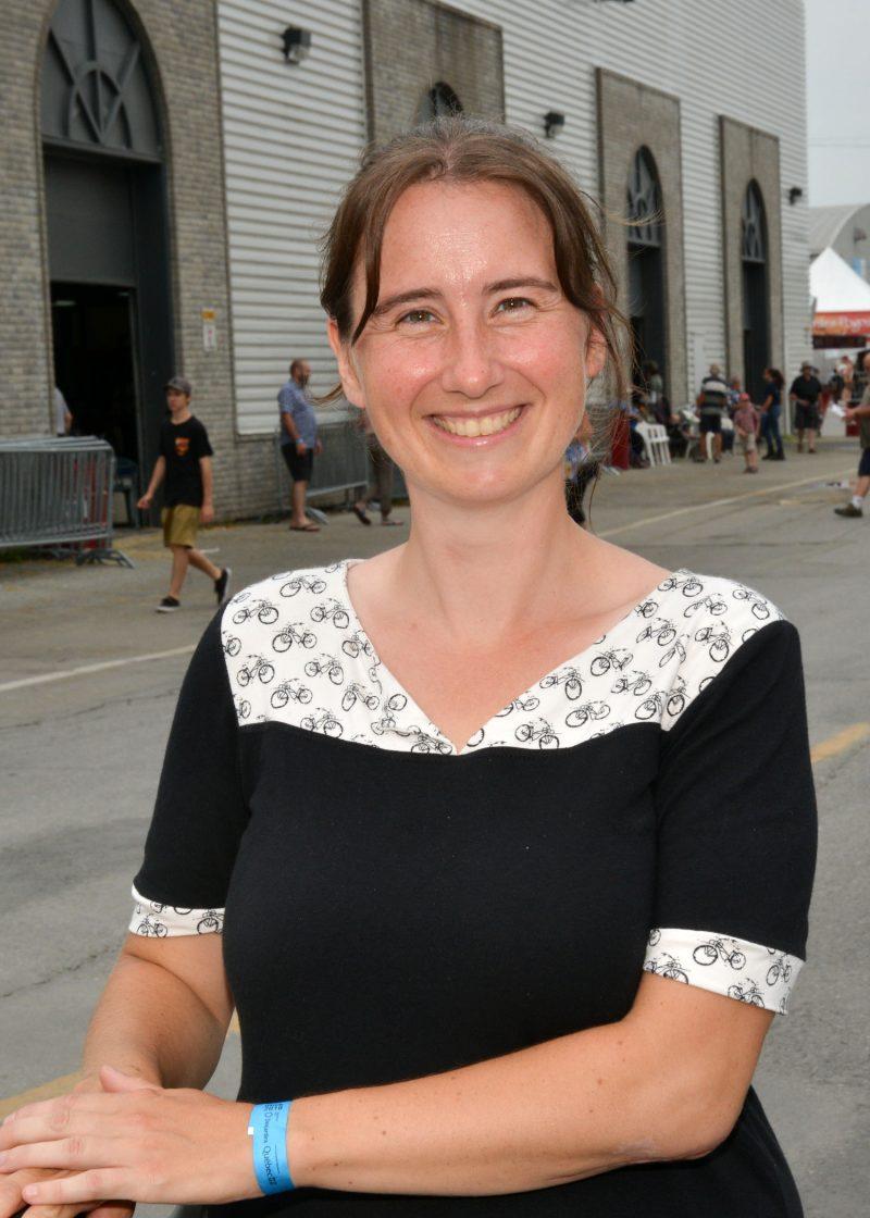 La candidate de Québec Solidaire, Annie Desharnais. photo: François Larivière