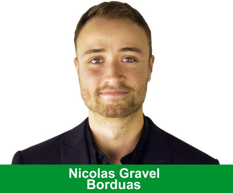 Le représentant du Parti Vert, Nicolas Gravel.