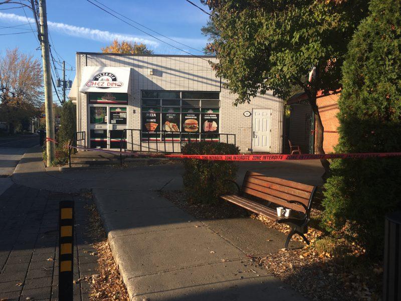 La Pizzeria chez Dino a été victime d'un incendie criminel. Photo: Karine Guillet
