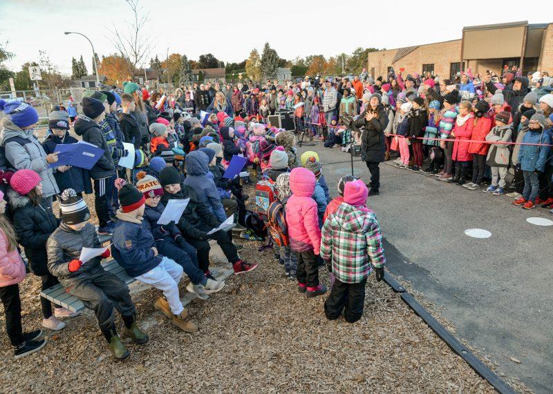 L'école Le Tournesol bénéficie maintenant d'une classe extérieure. Photo: François Larivière