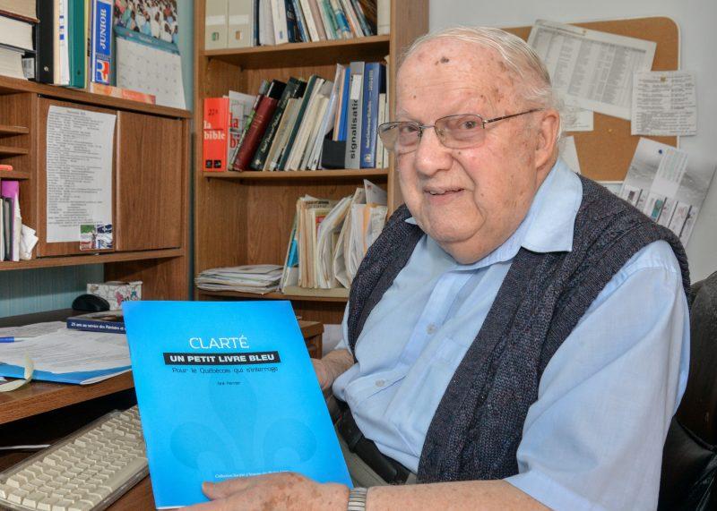 À 90 ans, Onil Perrier a décidé qu'il était temps de publier son «testament socio-politique». Photo:François Larivière