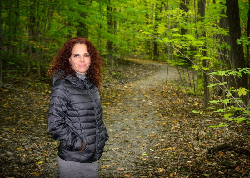 Isabelle Vermette, opposante au projet de la tour Telus. Photo: François Larivière