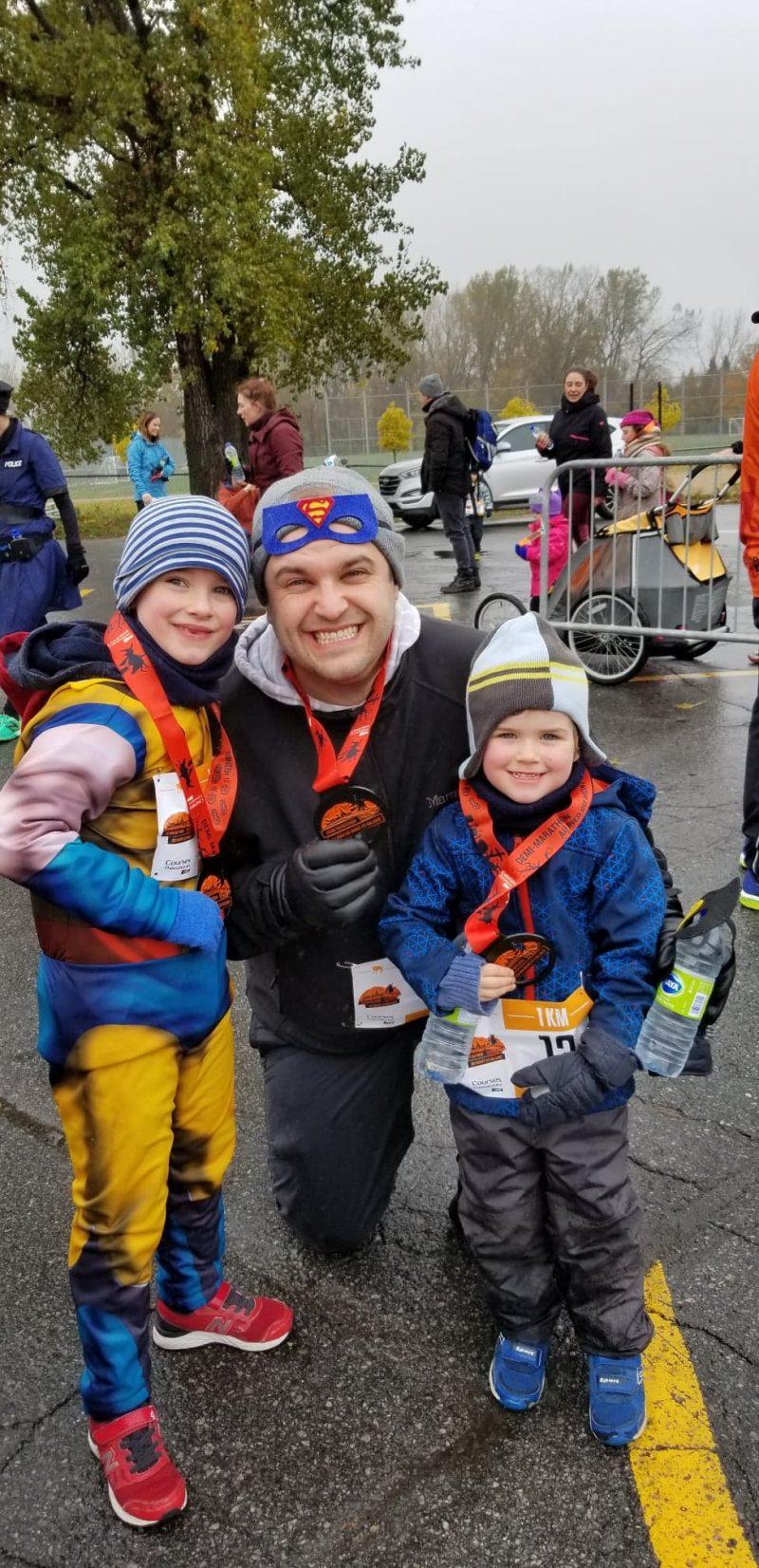 La famille Boies: Logan, Keaven et Arnaud. Photo: Gracieuseté