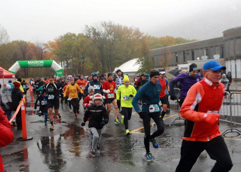 Il s'agissait de la cinquième édition de la course au pied de la Montagne.  Photo: Robert Gosselin