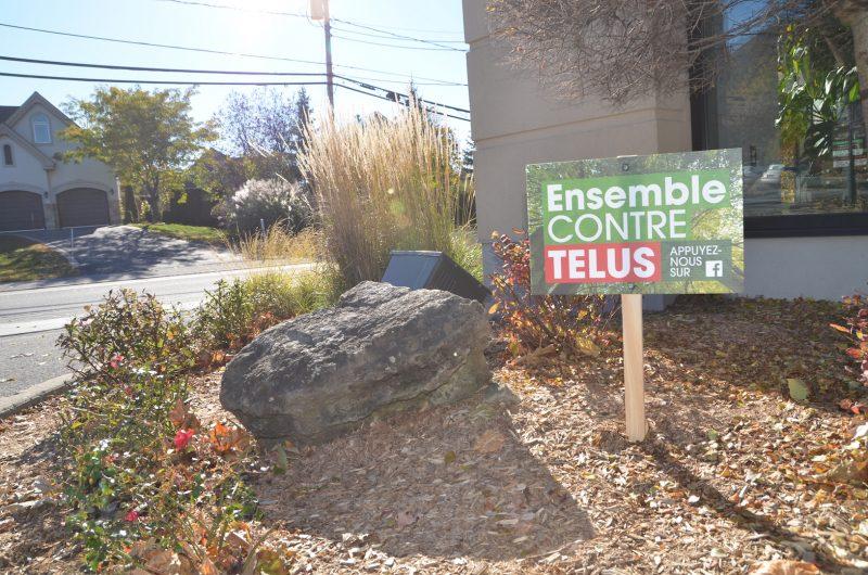 La Ville a installé des pancartes sur son territoire, dont sur les terrains de l'hôtel de ville, du Centre communautaire de la Pointe-Valaine et du Centre Marcel-Lacoste. Photo: Vincent Guilbault