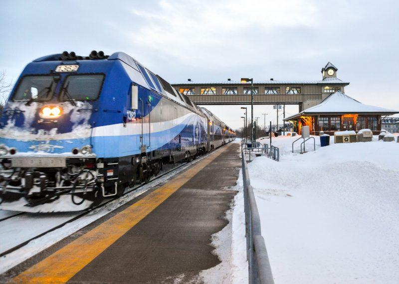 Exo a signalé plusieurs retards sur la ligne Mont-Saint-Hilaire en novembre. Photo François Larivière | L'Œil Régional ©