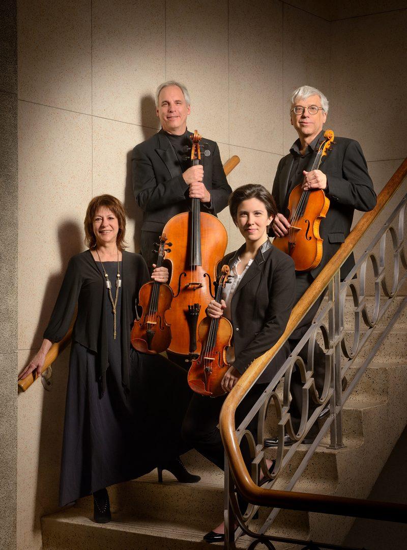 Le Quatuor Saguenay (anciennement Quatuor Alcan) est composé de Nathalie Camus, David Ellis, Marie Bégin et Luc Beauchemin. Photo Paul Cimon