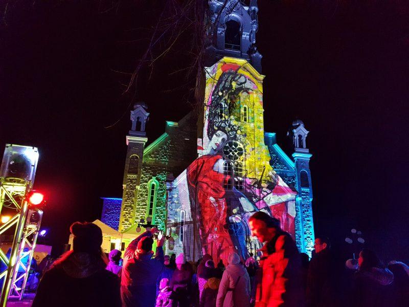 Environ 3800 personnes avaient participé à Showfrette Weekend en lumière l'année dernière. Si la température est aussi clémente, on espère en attirer 4000 les 1er et 2 mars. Photo gracieuseté