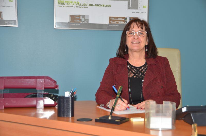 La mairesse de Belœil et préfète de la MRC de la Vallée-du-Richelieu, Diane Lavoie. Photo Sarah-Eve Charland | L'Œil Régional ©