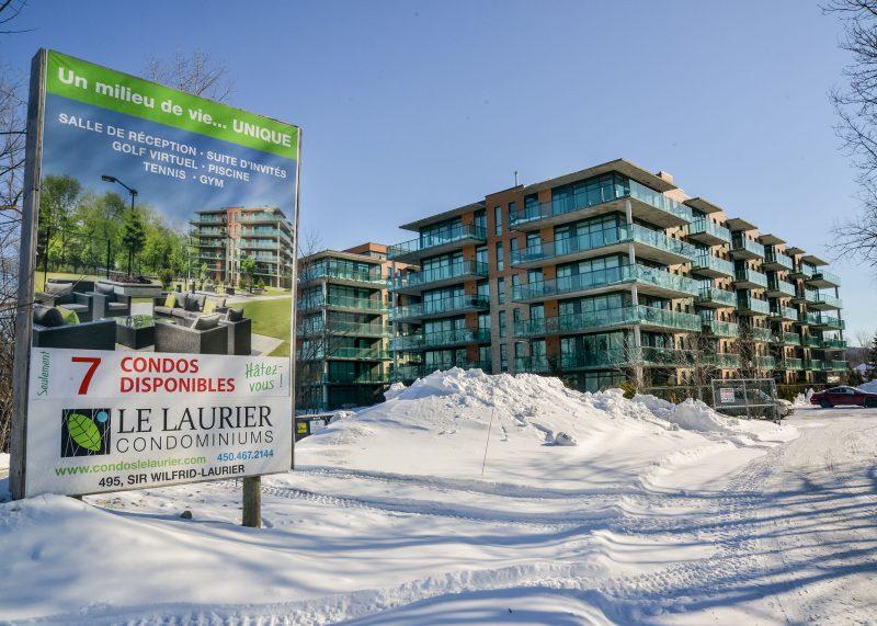La construction des condos Laurier s'est terminée il y a quelques années. Photo François Larivière ©