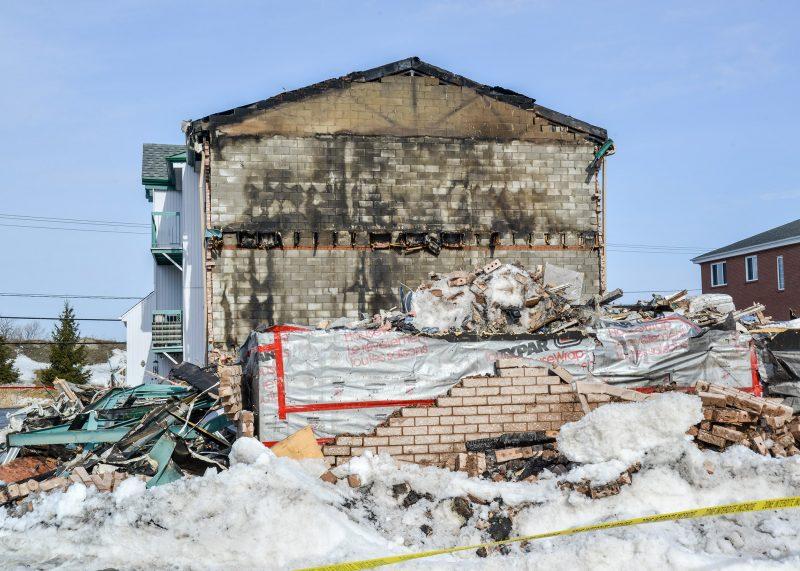 Le bâtiment incendié. Photo: François Larivière