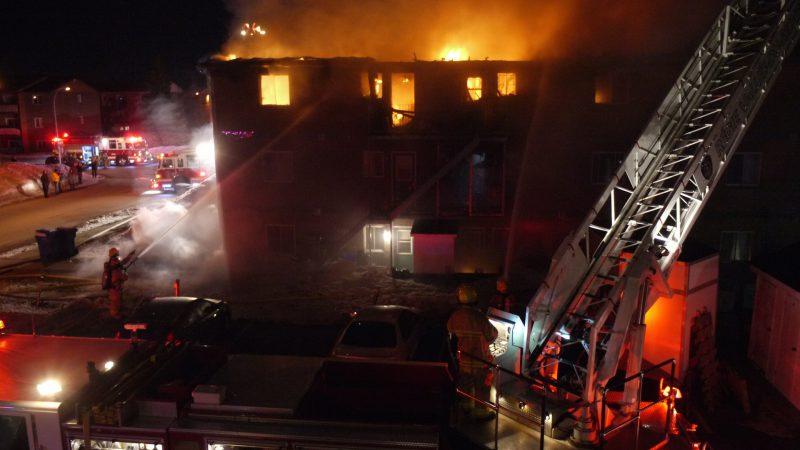 Incendie majeur à Belœil: 15 locataires sans toit