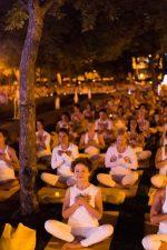 Grand rassemblement de yoga