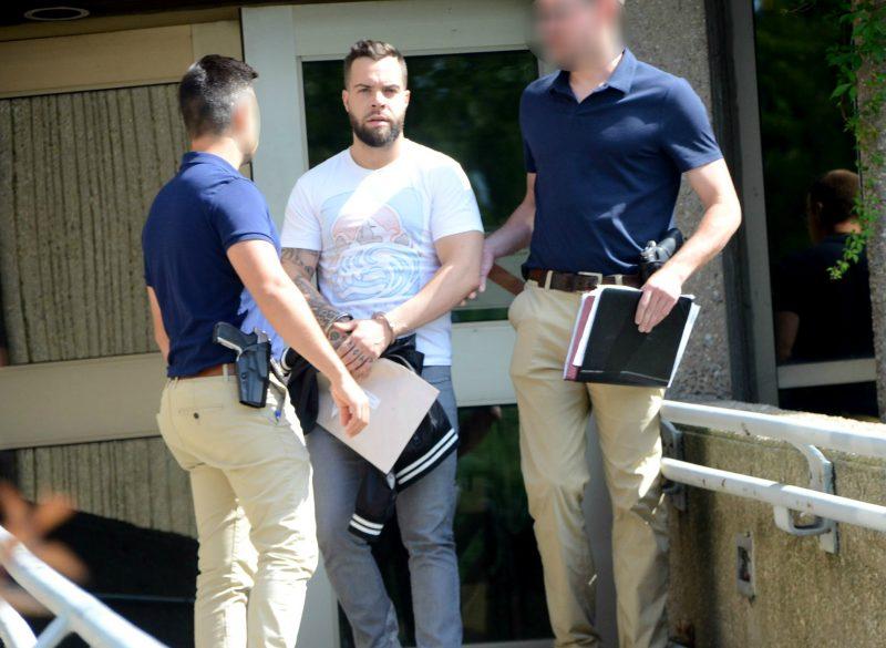 Ugo Emmanuel Salvail-Gonzalez a repris le chemin du pénitencier à Sherbrooke, lui qui purge une peine dans un autre dossier. Photo Jean-Philippe Morin | Les 2 Rives ©